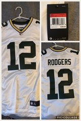 Aaron Rodgers stitched large in Buckley AFB, Colorado
