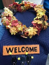 Halloween wreath in New Lenox, Illinois
