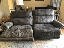 Suede Grey Reclining Couch in Okinawa, Japan