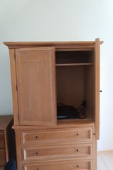 All wood entertainment center in Lakenheath, UK