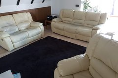 Leather Couch Set in Lakenheath, UK