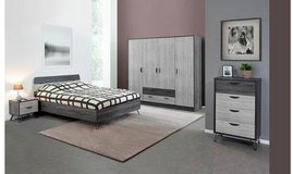 "US Full Size bed set Lara complete with ""Optimum Mattress"" with delivery- without closet $885 in Stuttgart, GE"