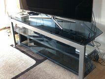 Glass TV stand in Cambridge, UK