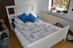 Ikea Hemnes Bed in White 140 x 200 cm in Stuttgart, GE