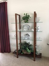 Wood Frame and Glass Shelf Unit - $100 OBO in Sandwich, Illinois
