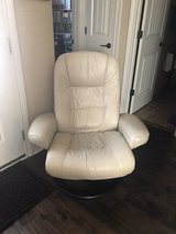 Nice Leather Chair with Stool in Pleasant View, Tennessee