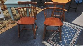 Pair of solid wood dining chairs in Wilmington, North Carolina