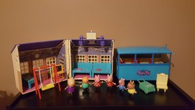 Peppa Pig - multiple sets - school house, school bus, figurines - EXCELLENT! in Clarksville, Tennessee
