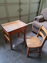 Antique Student Desk and Chair in Houston, Texas