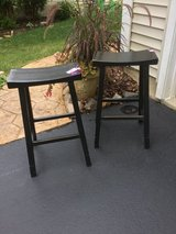 Black Saddle Kitchen Chairs in Bolingbrook, Illinois