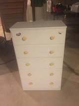 Vintage White 5-Drawer Dresser in St. Charles, Illinois