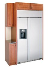 GE SIDE BY-SIDE BUILT-IN REFRIGERATOR in Spring, Texas