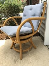 (4) Mid Century bamboo swivel chairs in Beaufort, South Carolina