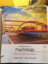 Introduction to Psychology; Gateways to Mind and Behavior in New Lenox, Illinois