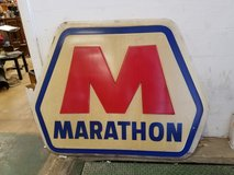5 foot Polycarbonate Authentic Marathon Oil Gas Sign in Chicago, Illinois