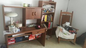 furniture set with desk, bookshelf and rocking chair in Westmont, Illinois