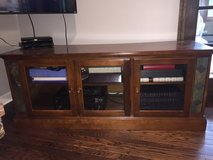 Wood and slate TV stand in Naperville, Illinois