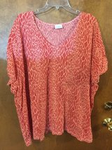 Orange/Beige short sleeve top by Jaclyn Smith in Glendale Heights, Illinois