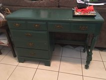 Green desk in Katy, Texas