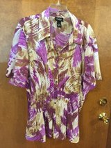 Lavendar/Brown Short sleeve top by Liz & Me in Lockport, Illinois