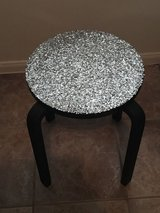 Glitter and black end table in Katy, Texas