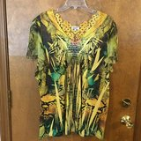 Green & Yellow Short Sleeve top by One World in Lockport, Illinois