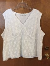 White sleeveless top by CATO in Chicago, Illinois