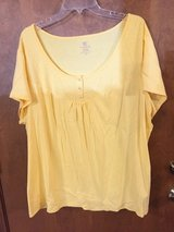 Yellow short sleeve top by Faded Glory in Naperville, Illinois