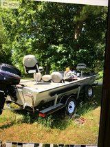 Bass Tracker boat in Fort Leonard Wood, Missouri