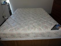 Serta Queen Bed - Box Springs, Mattress, and Frame in Okinawa, Japan