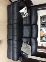 Black Synthetic Leather couch recliner in Okinawa, Japan