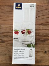 Water carafe and glass - NEW - never used in Wiesbaden, GE