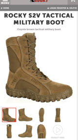 Rocky S2V Tactical Military Boot in Ramstein, Germany
