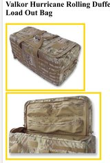 Valkor Hurricane Rolling Duffle Load Out Bag (Made in USA) in Okinawa, Japan