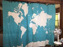 Atlas word map tapestry, bed cover, throw blanket in Okinawa, Japan