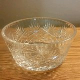"7"" COLLECTIBLE BRILLIANT CLEAR CUT CRYSTAL BOWL-DIAMOND & PINEAPPLE in Fort Leonard Wood, Missouri"
