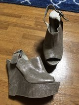 Silver wedge heel by Steve Madden (sz 7-7.5) in Okinawa, Japan