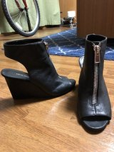 Black zippered peep toe wedge from Nine West (sz 8) in Okinawa, Japan