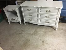 painted dresser and nightstand in Houston, Texas