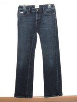 White House Black Market Blanc Open Your Heart Boot Cut Denim Jeans Womens 6R 6 in Morris, Illinois