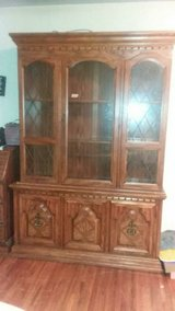 wooden china cabinet in New Lenox, Illinois