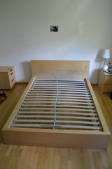 Ikea Malm bed and nightstand in Stuttgart, GE