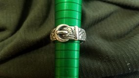 Vintage James Avery Floral Belt & Buckle Ring in Kingwood, Texas