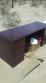 mahogany executive desk with locking drawers in 29 Palms, California