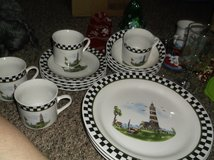 lighthouse dinnerware place setting for four in Alamogordo, New Mexico
