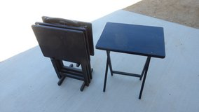 wood TV  table set solid in Yucca Valley, California