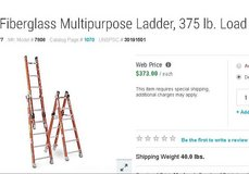 Multipurpose ladder heave duty , like new in Yucca Valley, California