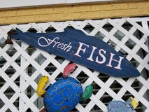 Fresh Fish Sign #2250-16 in Camp Lejeune, North Carolina