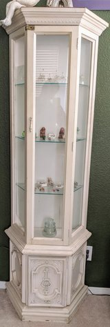Shabby chic white display cabinet in Temecula, California