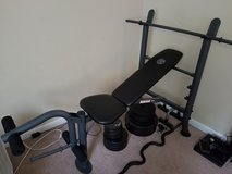 Golds weight bench in Fort Campbell, Kentucky